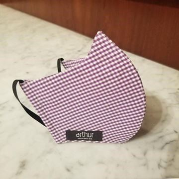 T269 - Purple gingham checks voile cotton