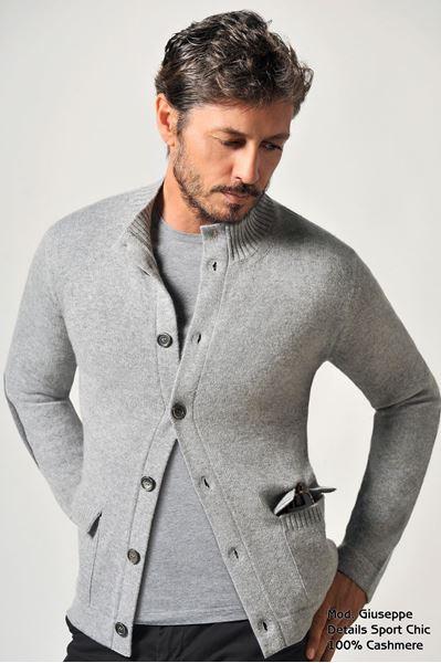 Picture of Custom Cardigan 100% Cashmere - Giuseppe Bassa