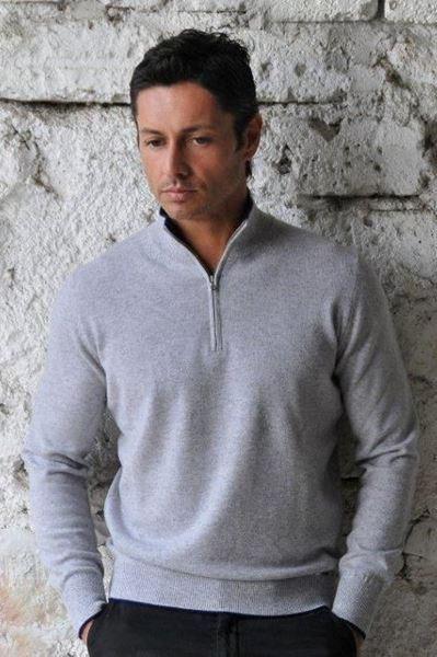 Image sur Custom Half-Zip Sweater 100% Cashmere - Gianluca