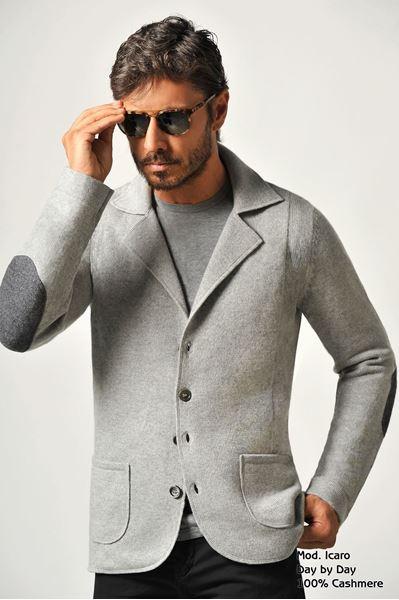 Image sur Custom Cardigan 100% Cashmere - Icaro Bassa