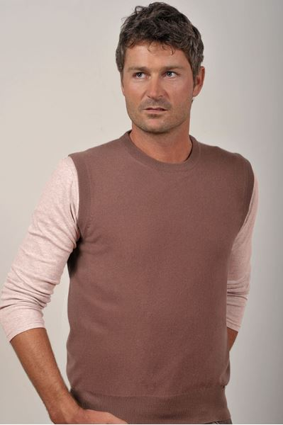 Image sur Custom Sleeveless Vest 100% Cashmere - Lamberto