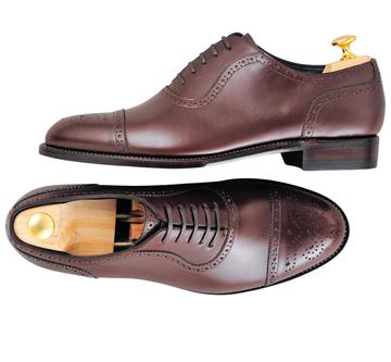 Custom shoes Miyagi Kogyo ES37 burgundy calf