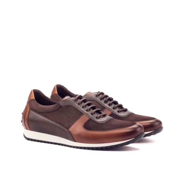 Custom sneakers corsini 3355 brown leather and suede