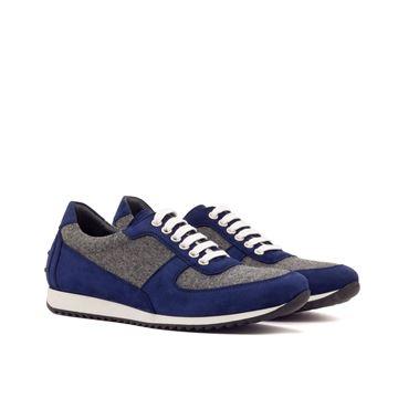 Custom sneakers corsini 3397 navy suede grey flannel