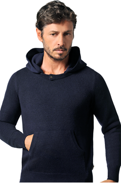 Paolamela Custom detachable hoodie 100% cashmere made in Italy - Mariano