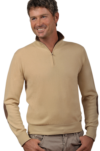 Paolamela Custom-made sweater 100% cashmere made in Italy - Gianluca con Toppe