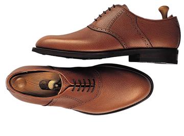 Custom shoes Miyagi Kogyo ES25 mid brown calf leather saddle