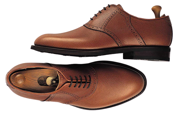 Custom shoes Miyagi Kogyo ES25 mid brown calf leather saddle