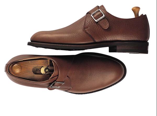 Custom shoes Miyagi Kogyo ES24 mid brown calf leather single monk straps