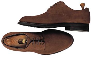 Custom shoes Miyagi Kogyo ES-12 brown suede derby