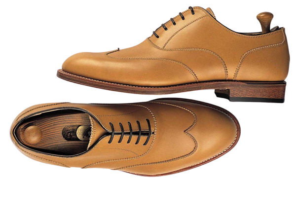 Custom shoes Miyagi Kogyo ES-10 tan calf leather oxford
