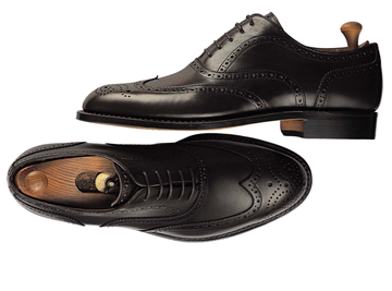 Custom shoes Miyagi Kogyo ES-09 black calf leather oxford