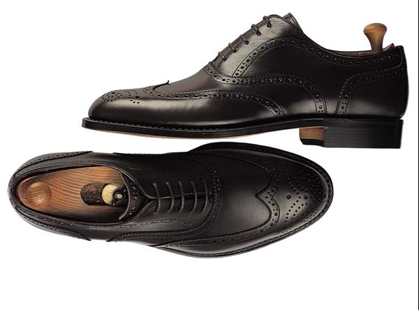 Custom shoes Miyagi Kogyo ES-09 black calf leather oxford