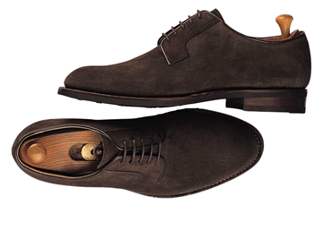 Custom shoes Miyagi Kogyo ES-08 dark brown suede derby