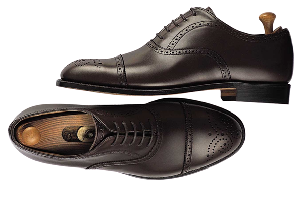 Custom shoes Miyagi Kogyo ES-06 black calf leather oxford
