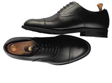 Custom shoes Miyagi Kogyo ES02 black calf leather