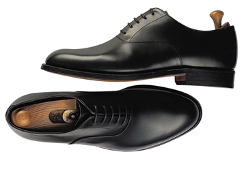 Custom shoes Miyagi Kogyo ES01 black calf leather