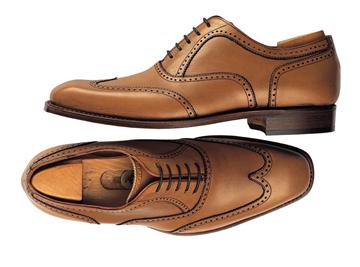 Custom shoes Miyagi Kogyo CS-107 cognac wingtip brogue