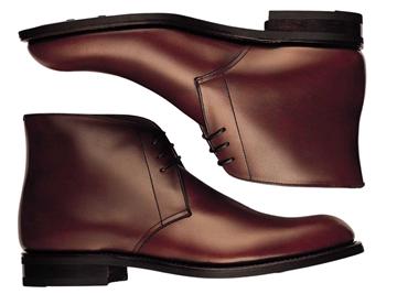 Custom chukka boots Miyagi Kogyo ES21 burgundy calf leather