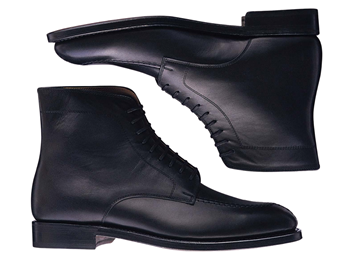 Custom boots Miyagi Kogyo ES35 black smooth leather