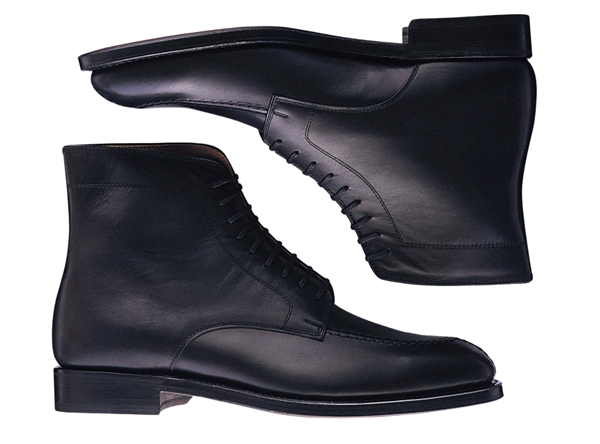 Custom boots Miyagi Kogyo ES35 black smooth leather