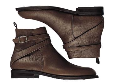 Custom jodhpur boots Miyagi Kogyo ES27 dark brown leather
