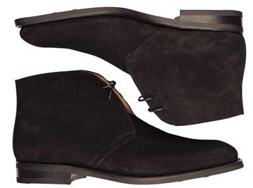 Custom chukka boots Miyagi Kogyo CS-120 black suede
