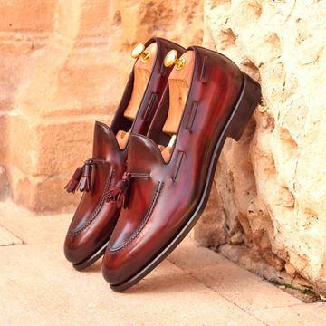 Custom loafers 2919 burgundy patina