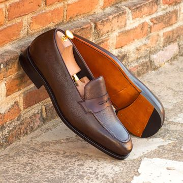 Custom loafers 3719 dark brown full grain