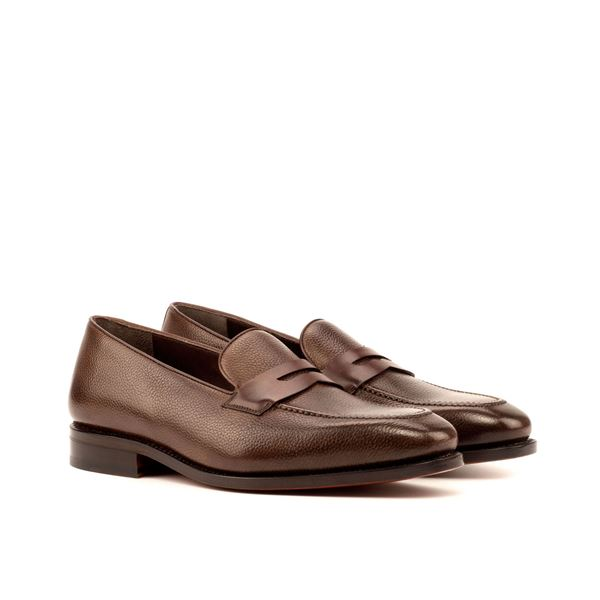 Custom loafers 3719 dark brown full grain