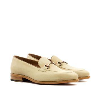 Custom loafers 3586 beige suede