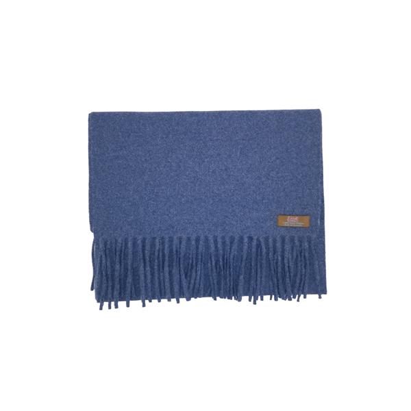 Lovat Mill angora scarf solid blue