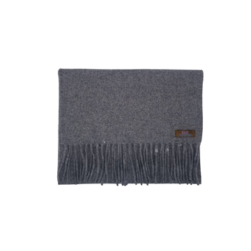 Lovat Mill angora scarf solid grey