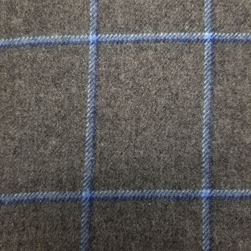 Lovat Mill 100% cashmere checkered scarf grey and blue