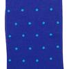 Marcoliani Milano aqua on royal blue polka dots wool blend socks