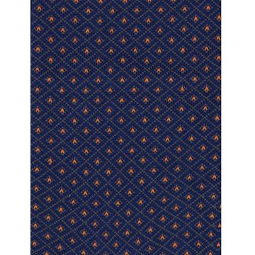 Marcoliani Milano brown on navy diamonds cotton blend socks