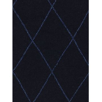 Marcoliani Milano navy diamond wool blend socks