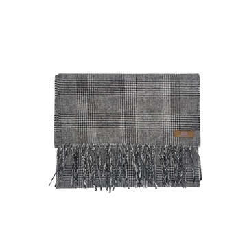 Lovat Mill angora scarf checkered grey