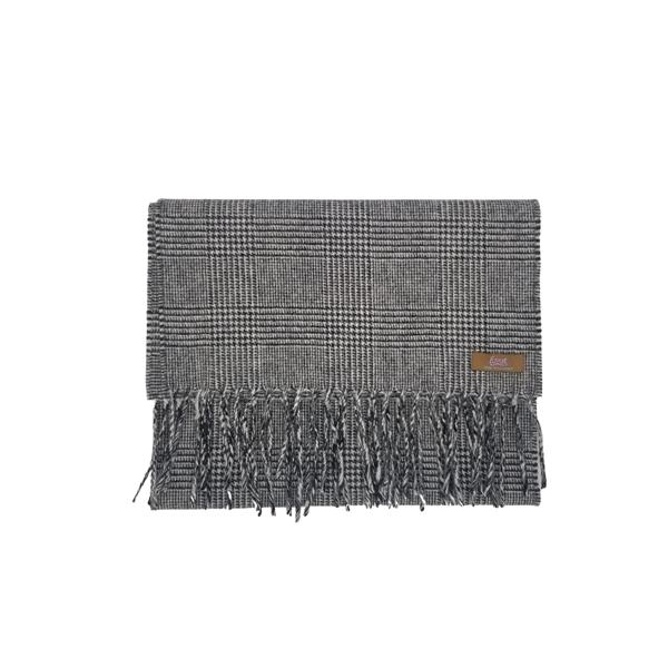 Lovat Mill angora scarf checkered grey