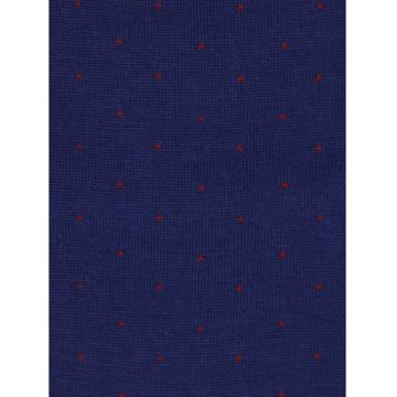 Marcoliani Milano navy on red pin dots wool blend socks