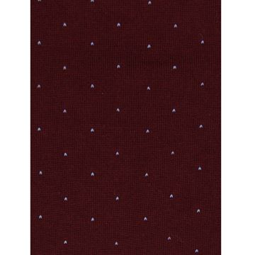 Marcoliani Milano light grey pin dots on burgundy wool blend socks