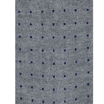 Marcoliani Milano navy on grey pin dot modal blend socks