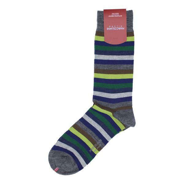 Marcoliani Milano yellow multicolor wool blend socks