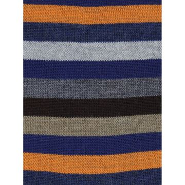 Marcoliani Milano Orange Multicolor striped wool blend sock