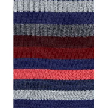 Marcoliani Milano burgundy multicolor striped wool blend socks
