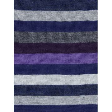 Marcoliani Milano Purple multicolor striped wool blend socks