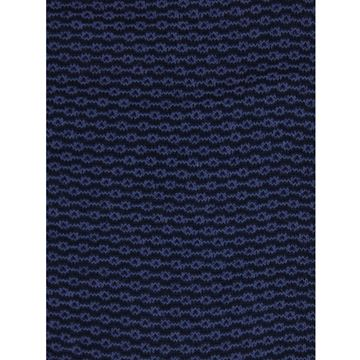 Marcoliani Milano blue on navy chainstitch cotton blend socks