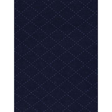 Marcoliani Milano blue on navy diamond cotton blend socks