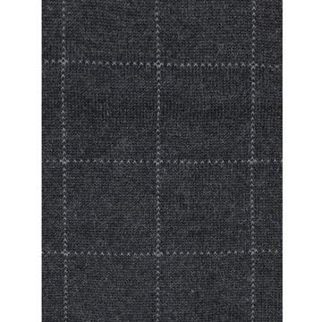 Marcoliani Milano Light grey on grey check modal blend socks