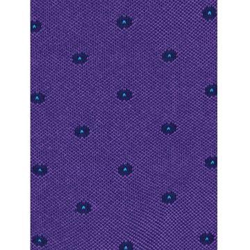 Marcoliani Milano Navy polka dots on purple cotton blend socks